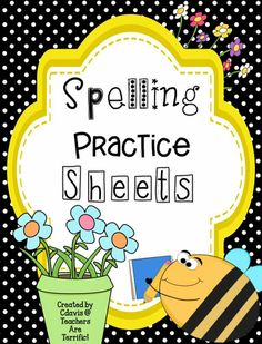 For those emergency days when you need a quick word work paper- two versions of a spelling task sheet! FREE!