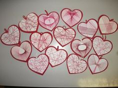 Valentine Heart, Valentine Crafts, Valentines, My Children, Kids, Textiles, String Art, Techno, Projects To Try