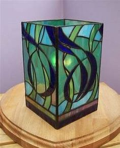 Swirl Tower Lamp - Mad Bert's Contemporary Stained Glass ...