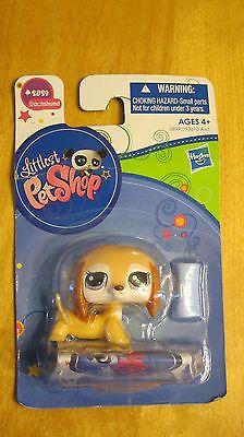 Littlest Pet Shop Dog Dachshund 2529 Purple Eyes LPS   eBay