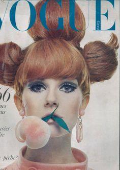i've got a thing for 60s make up.  nicole de la marge, paris vogue 1966, photo by guy bourdin