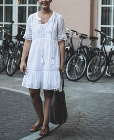 Frolicking Through Charleston - White dress under $30 - perfect white dress for spring and summer - summer white dress - How 2 Wear It