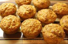 Cheesy courgette/zucchini muffins