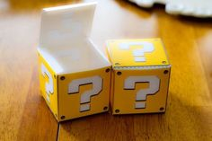 Super Mario Birthday: Coin Treat Boxes