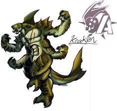 Kaiju Wars: Kraken by Blabyloo229 on DeviantArt Weird Creatures, Fantasy Creatures, Sea Creatures, Monster Art, Monster Hunter, Neo Monsters, Kraken, Godzilla, Character Art