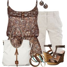 "Cute and casual summer outfit  #abbigliamento       ""Peplum Cami"" by daiscat on Polyvore"