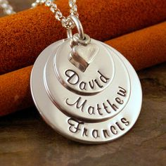Hand Stamped Mommy Jewelry  Personalized by IntentionallyMe, $58.00