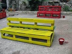 Un'idea originale: panchina da esterno fatta con bancali pallets