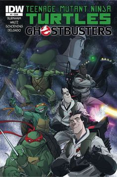 Teenage Mutant Ninja Turtles Ghostbusters crossover comic of 4 issues) from IDW - Love these, cause I'm a big fan of TMNT too! Ninja Turtles Art, Teenage Mutant Ninja Turtles, Comic Book Covers, Comic Books, Crossover, Rock And Roll, Dc Comics, Horror Comics, Horror Dvd