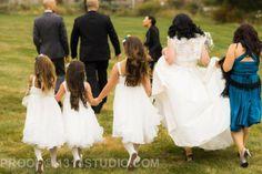Bride with flower girls. Our vintage glam fall wedding. #broach #newjersey #wedding #vintagewedding #fallwedding #glamwedding #glam #fall #wedding #peronafarms #nj #bride #groom #weddingplanning #vintage #bride #groom #justmarried #inspiration #weddingideas #masonjar #babysbreath #vintagebride #tealandgray #teal #gray #shrug #alenconlace #ostrichfeathers #brideshrug