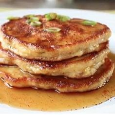 Mancakes - Allrecipes.com  This recipe sounds delish.  Will definitely give it a try.  Perhaps breakfast for dinner, this would be a good option because it is a savory pancake.