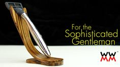 Make this classy razor stand by bending wood