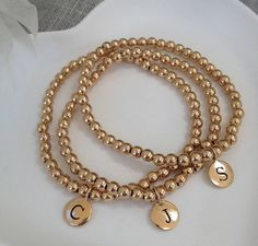 Personalised Initial Gold Filled Bracelet