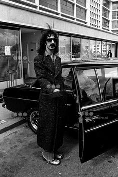 by Claude Gassian Frank Zappa at Le Bourget airport Paris 1974