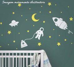 Veja nosso novo produto! Kit Astronauta com Espaçonaves, foguetes,lua e estrela, para uma super decoração! Se gostar, pode nos ajudar pinando-o em algum de seus painéis :)