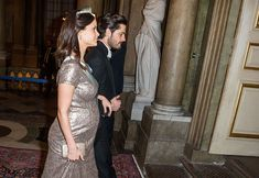 Princess Sofia of Sweden work maternity glamour at official dinner
