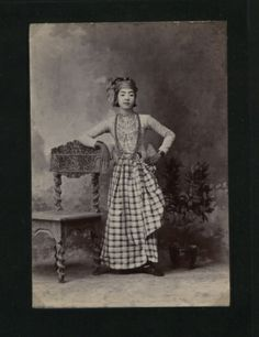 """Burma c 1900 """"This is the girl in a boy's dress who danced in Mays Warsi compound"""""""