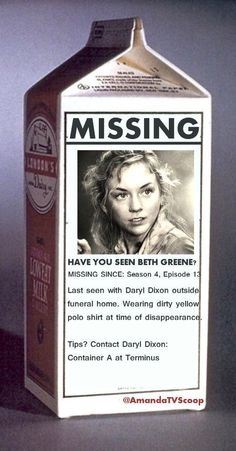 Well Beth's still missing... So let's call Daryl at...terminus