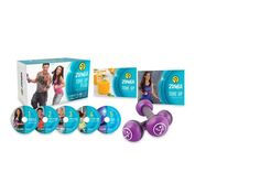Zumba® Tone Up DVD System Workout Dancing Yoga Gym Home Exercise Weight Loss