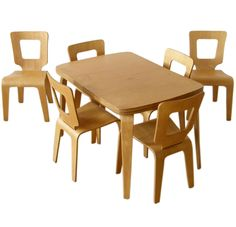 BEND IT: Rare circa 1947-1951 dining table + 1 table leaf + 4 ...