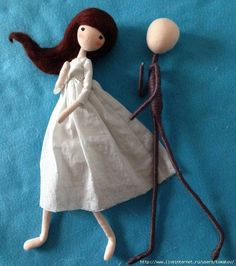 Beautiful bendy doll to makeru Inspired by illustration done by OF Echi. Teaches you how to create a doll from scratch! Tiny Dolls, Soft Dolls, Cute Dolls, Dolls Dolls, Yarn Dolls, Fabric Dolls, Clothespin Dolls, Sewing Dolls, Doll Tutorial