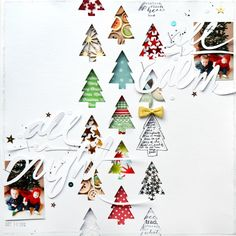 As much as I love Halloween, Christmas really is the most wonderful time of the year! I love documenting our memories in layouts and thought it would be fun to share some past holiday pages! JINGLE ALL THE WAY by Paige Evans I backed a large title with funky holiday papers to make this bold …