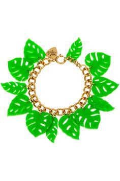 Hot House Leaves Bracelet - Green (£70.00)
