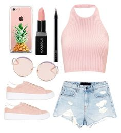 """#514"" by x-michee-x on Polyvore featuring Alexander Wang, No Name, N°21, The Casery, Smashbox and MAC Cosmetics"