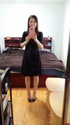 Old Navy black wrap dress. Love!