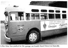 A Bee Line bus parked at the garage on South Hazel Street.