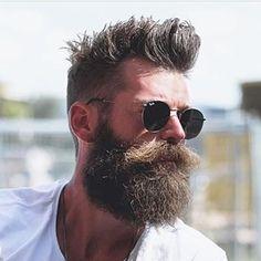 The Beard & The Beautiful Great Beards, Awesome Beards, Beard Styles For Men, Hair And Beard Styles, Moustaches, Hipsters, Hipster Beard, Beard Model, Epic Beard