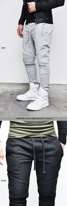 Seaming Slim Biker Sweatpants