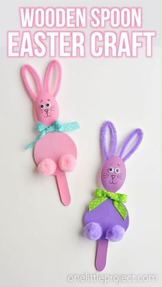 easter crafts for kids toddlers / easter crafts . easter crafts for kids . easter crafts for toddlers . easter crafts for adults . easter crafts for kids christian . easter crafts for kids toddlers . easter crafts to sell Toddler Arts And Crafts, Easter Arts And Crafts, Bunny Crafts, Paper Crafts For Kids, Preschool Crafts, Art And Craft, Kid Crafts, Wooden Spoon Crafts, Wooden Spoons