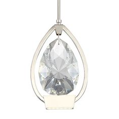 """Modern Forms PD-62711 Tiffany Light 3"""" Wide Integrated LED Mini Pendant, Polished Nickel"""