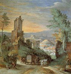 BRIL, Paul Flemish painter (b. 1554, Antwerpen, d. 1626, Roma) Landscape with Roman Ruins c. 1580