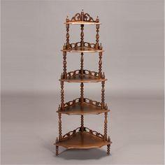 Victorian Five Shelf Whatnot Shelf
