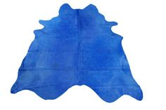 Turquoise Cowhide Rug Size: 7.4 X 6.5 ft  Dyed by deluxecowhides