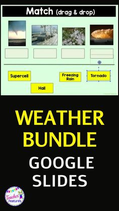Using Google Classroom digital science activities is an easy way to teach weather types. Explore different types of extreme weather with these no prep Google slides. Includes a quiz with answer key plus drag