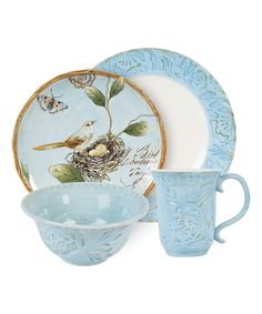 Take a look at this Fitz and Floyd | Blue Toulouse 4-Piece Place Setting today!