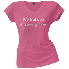 Breast Cancer Awareness - Save the Ta-Tas - We Save Lives Juniors T-Shirt