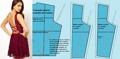 Patrón básico delantero de blusa personalizado (A medida o anatómico) (Actualizado) Dress Patterns, Sewing Patterns, Bodice Pattern, Pattern Drafting, Designer Dresses, Barbie, Casual, Tips, How To Wear