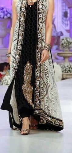 Pakistani fashion dress. Ok... If it didn't have the kaam in the middle