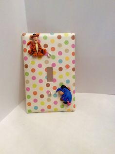 Tigger Light Switch - Disney Switchplate - Tigger Nursery Switchplate - pinned by pin4etsy.com