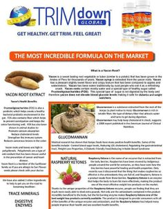 Trim Down Fiber Plus Ingredients and what they do for you!