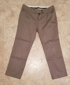 fb773c5eb4c Womens Ann Taylor Tan Cropped Pants Size 6  fashion  clothing  shoes   accessories