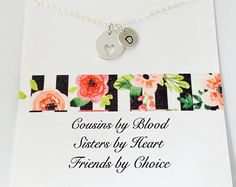 Cousin Necklace, Personalized Cousin Necklace, Cousin Jewelry, Gift for Cousin, Best Friend