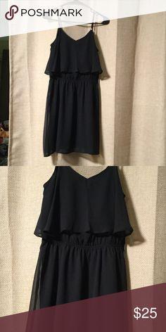 Express little black dress Spaghetti strap black chiffon dress Express Dresses Mini