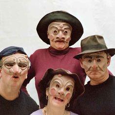 Commedia Dell Arte masks in thick latex.