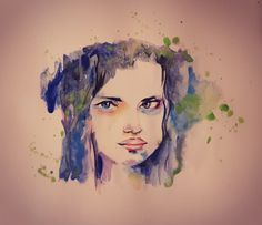 Watercolor Portrait by Suzan Sümer Digital Portrait, Watercolor Portraits, My Arts, Photo And Video, Painting, Instagram, Painting Art, Paintings, Painted Canvas
