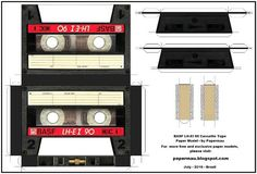 PAPERMAU: 1985`s BASF LH-EI 90 Cassette Tape Paper Model - by PapermauDownload Now!